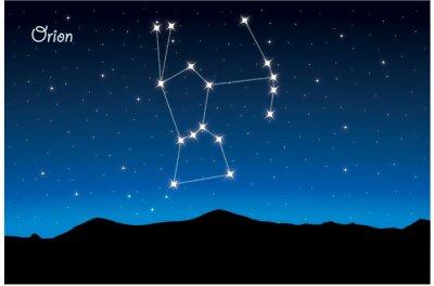 Affisch Constellation Orion