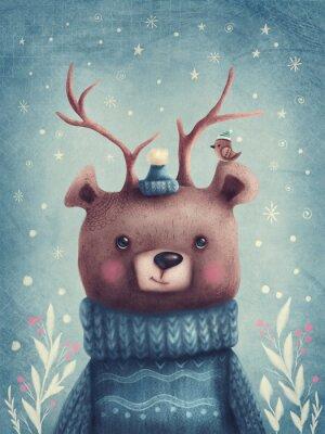 Affisch Cute brown bear