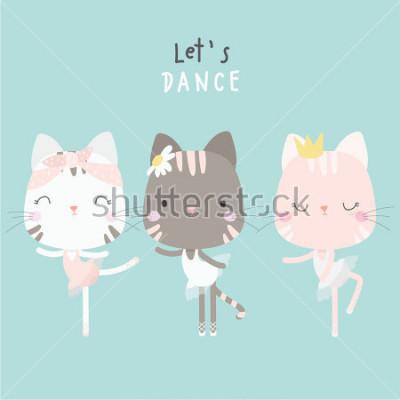 Affisch cute cat dance