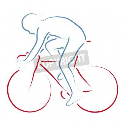 Affisch cyklist