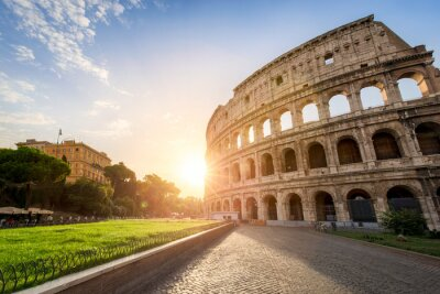 Affisch Das Kolosseum i ROM-minne Italien bei Sonnen
