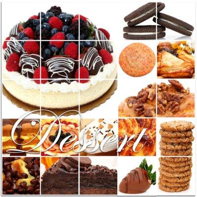 Affisch Dessert collage