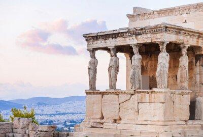 Affisch Detalj av Erechtheion i Akropolis i Aten, Grekland