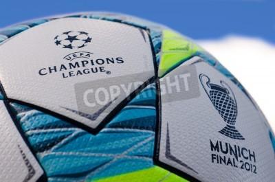 Affisch Detta är det organ bollen spelas i finalmatchen mellan Bayern München och Chelsea