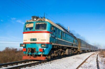 Affisch Diesel lokaltåg i Ukraina.