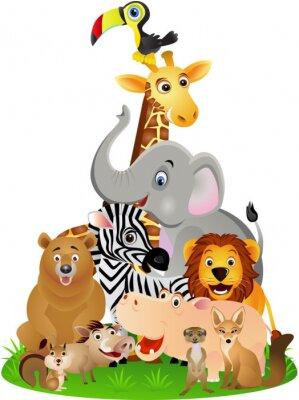 Affisch djur tecknad