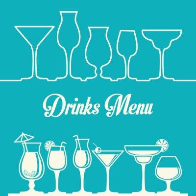 Affisch drink utformning