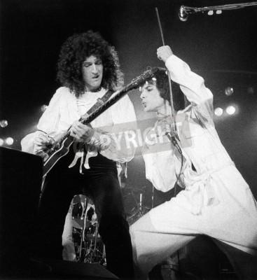 Affisch Drottning konsert - En dag på kapplöpningarna i 1976