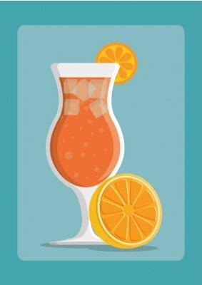 Affisch Drycker ikonen design
