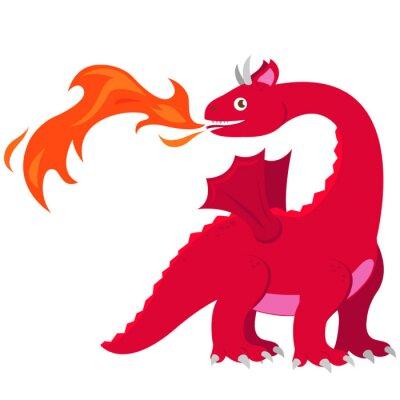 Affisch Eld andningsdrake