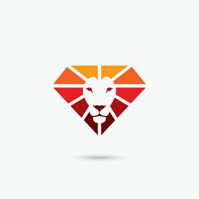 Affisch Eld diamant lion symbol