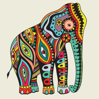 Affisch Elefant. vektor