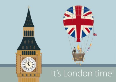 Affisch Eleganta London ritningar
