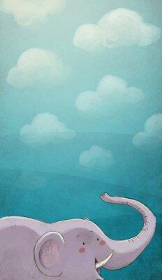Affisch Elenfante con textura