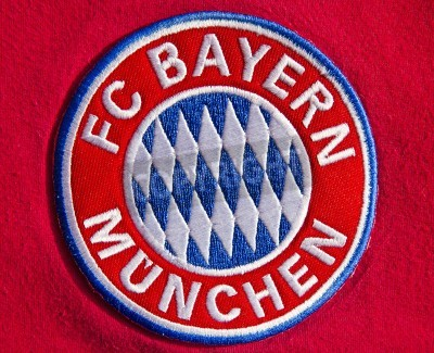 Affisch Emblem av tyska fotbollsklubben FC Bayern München