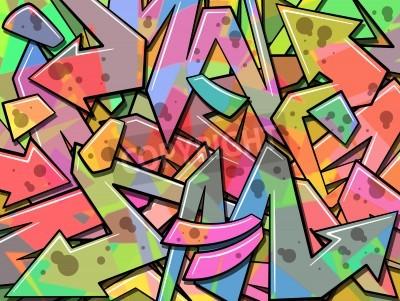 Affisch En färgglad graffiti bakgrund