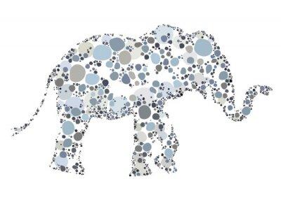 Affisch En kreativ illustration av en elefant