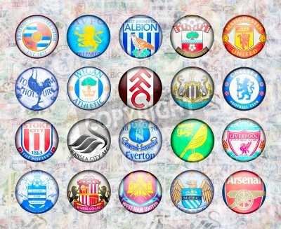 Affisch Engelska Premier League lag 2012/13