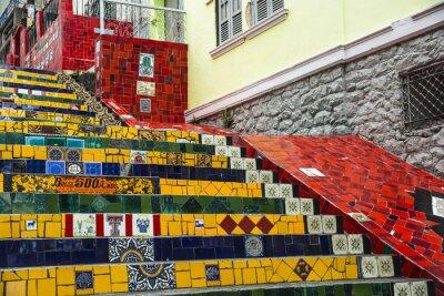 Affisch Escadaria Selaron, Rio de Janeiro, Brasilien