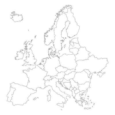 Affisch Europa i Weiß - vektor (hoher Detailgrad)