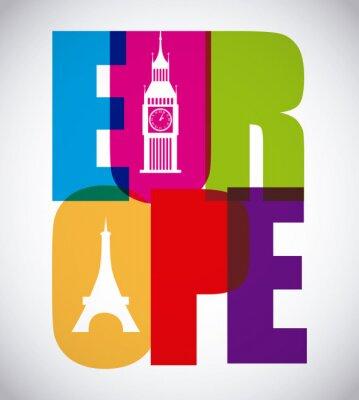 Affisch europa utformning