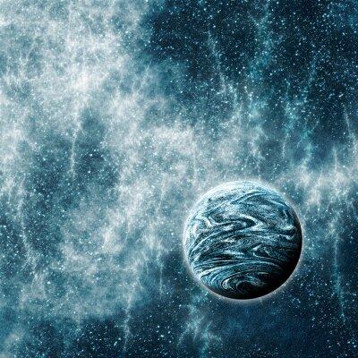 Affisch Extrasolar planet i en skev Space Time Region