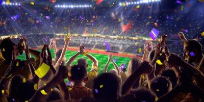 Affisch Fans på stadion spel panorama