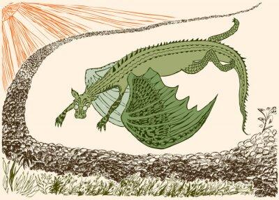 Affisch Fantastisk drake har kommit fram