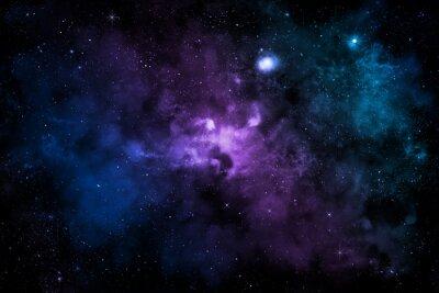 Affisch Farbiger Nebel i Sternen