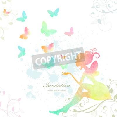 Affisch Färg av akvarellfärg