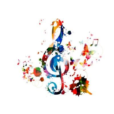 Affisch Färgrik bakgrundsmusik