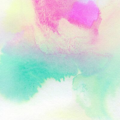 Affisch Färgrik vattenfärg målad bakgrund