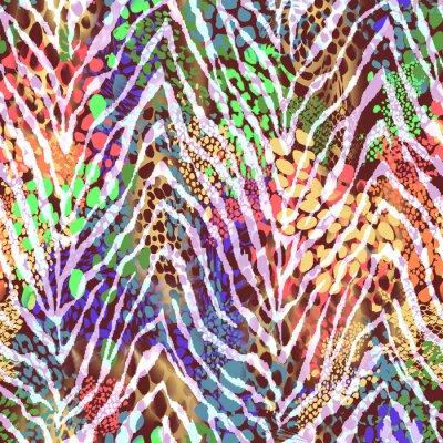 Affisch färgrik zebra konsistens på fläckar ~ sömlös bakgrund