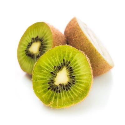 Affisch Färsk grön kiwi isolerade