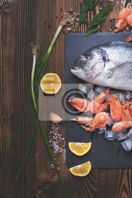 Affisch Färsk havsfisk