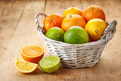 Affisch Färska citrusfrukter