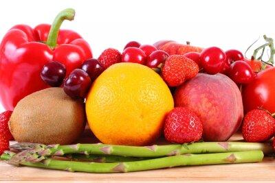 Affisch Färska frukter och grönsaker, hälsosam kost