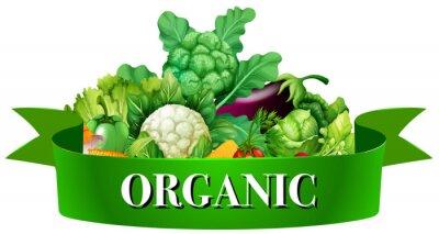 Affisch Färska grönsaker med banner
