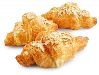 Affisch Färska söta croissanter