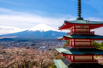 Affisch Fästet Fuji, Japan
