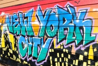 Affisch Fem Pointz ansåg en graffiti mecka i Queens New York City, är en utomhus utställningsplats med många graffiti artists.October 7, 2010.