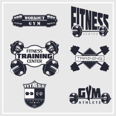 Affisch Fitness, gym, bodybuilding emblem