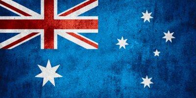 Affisch flagga av Australien
