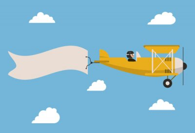 Affisch Flygplan ikonen design