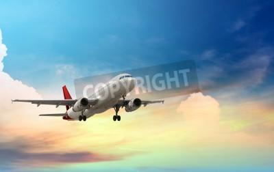Affisch flygplan lyfter