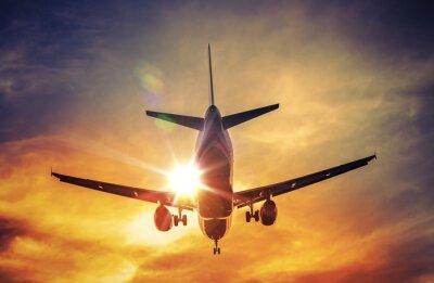 Affisch Flygplan och solen