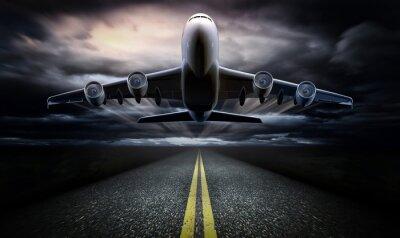 Affisch Flygplan på banan