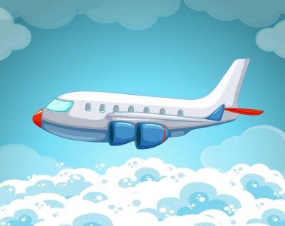 Affisch Flygplan som flyger i luften