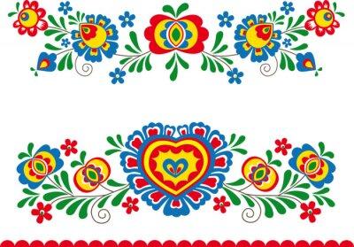 Affisch folk ornament