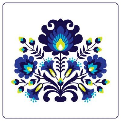 Affisch Folk Papercuts - Blommor